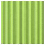 [ Thumbnail: Green & Light Green Stripes Fabric ]