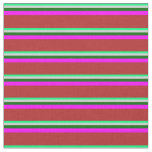 [ Thumbnail: Green, Light Grey, Dark Green, Fuchsia & Red Fabric ]