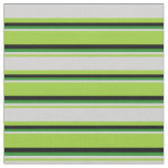 [ Thumbnail: Green, Light Grey, Forest Green & Black Colored Fabric ]
