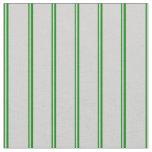 [ Thumbnail: Green & Light Grey Lines Fabric ]