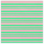 [ Thumbnail: Green & Light Pink Striped/Lined Pattern Fabric ]