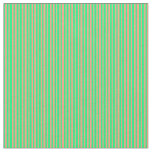 [ Thumbnail: Green & Light Salmon Colored Lines Fabric ]