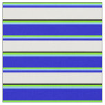 [ Thumbnail: Green, Light Sky Blue, Blue, White, and Black Fabric ]