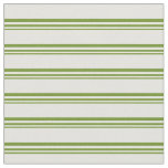 [ Thumbnail: Green & Light Yellow Colored Pattern of Stripes Fabric ]