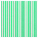 [ Thumbnail: Green & Light Yellow Lines Fabric ]