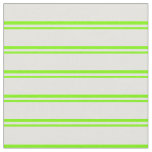 [ Thumbnail: Green & Light Yellow Lines/Stripes Pattern Fabric ]
