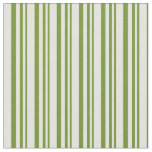 [ Thumbnail: Green & Light Yellow Striped/Lined Pattern Fabric ]