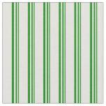 [ Thumbnail: Green & Light Yellow Stripes/Lines Pattern Fabric ]