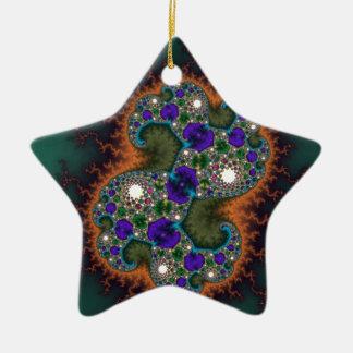 Green Lightening Ceramic Ornament