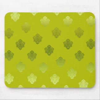 green lightgreen sikl silver white ornaments mouse pad