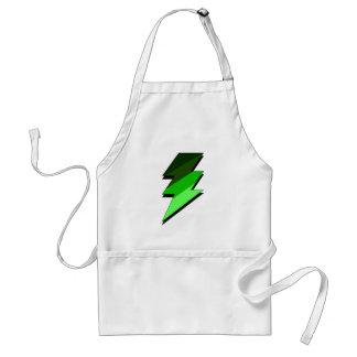 Green Lighting Thunder Bolt Adult Apron