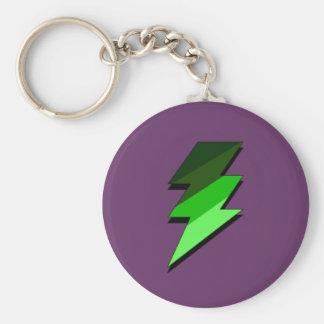 Green Lighting Thunder Bolt Key Chain