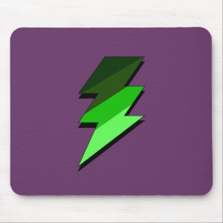 Green Lighting Thunder Bolt Mouse Pad