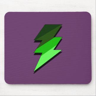 Green Lighting Thunder Bolt Mouse Pads
