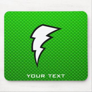 Green Lightning Bolt Mousepad