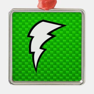 Green Lightning Bolt Ornament