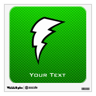 Green Lightning Bolt Room Graphics