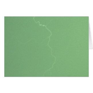 Green Lightning Card