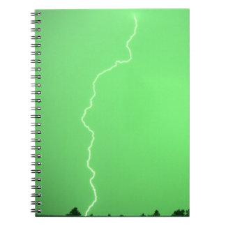 Green Lightning Notebook