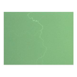Green Lightning Postcard