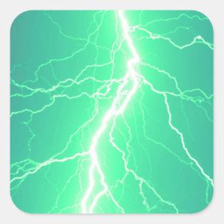 Green Lightning Strike - Sticker