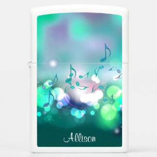 Green Lights and Music Notes Lighter