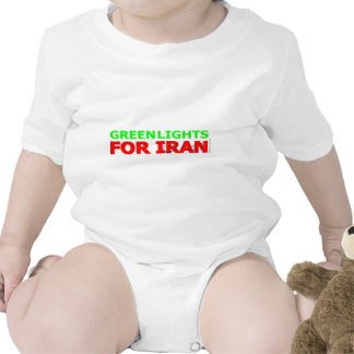 Green Lights for Iran Baby Bodysuits