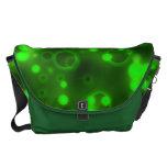 Green Lights Polka Dot Pattern Courier Bags