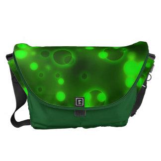 Green Lights Polka Dot Pattern Messenger Bag