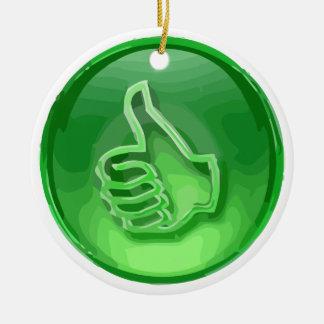 Green Like Ceramic Ornament