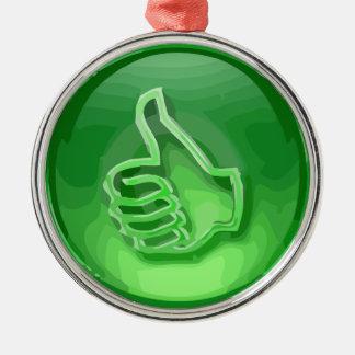 Green Like Metal Ornament
