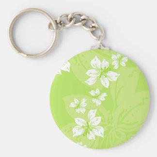 Green Lilly Pattern Keychain