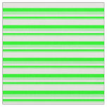 [ Thumbnail: Green, Lime, and Mint Cream Lines Fabric ]