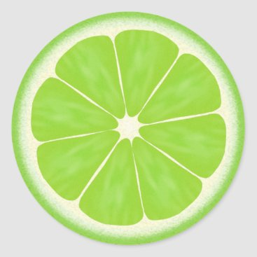 adams_apple Green Lime Citrus Fruit Classic Round Sticker