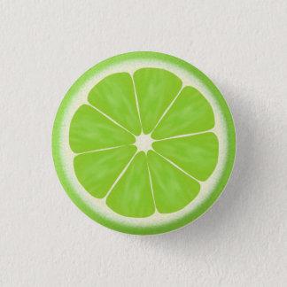 Green Lime Citrus Fruit Slice Pinback Button