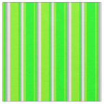 [ Thumbnail: Green, Lime, Dark Gray, and Light Yellow Pattern Fabric ]