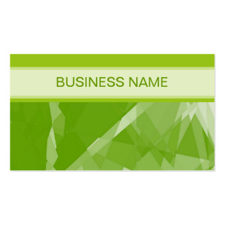 Green Lime Geometric Pattern and Plain Lime Business Card Template