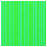[ Thumbnail: Green & Lime Lines Fabric ]