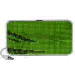 GREEN LIME NEON RETRO DOTS ART NOTEBOOK SPEAKERS