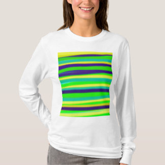 Green Lime Striped Abstract Art T-Shirt