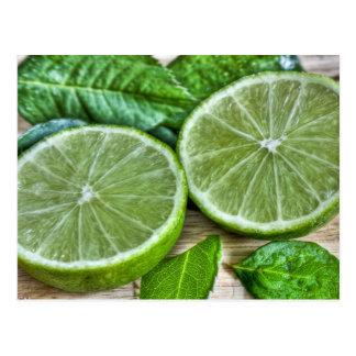 Green Limes and Mint Mojito Postcard