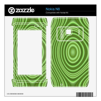Green Line Pattern Decals For Nokia N8