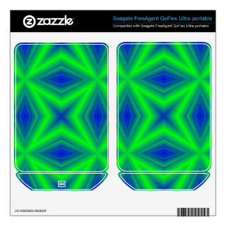 Green Line pattern FreeAgent GoFlex Decal