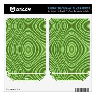Green Line Pattern FreeAgent GoFlex Decals