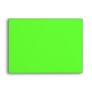 Green Lined with Black and White Stripes Envelope