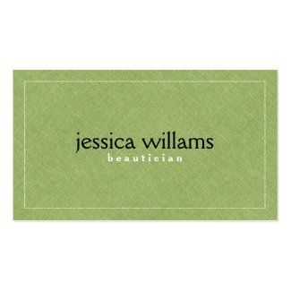 Green Linen Texture Pattern Double-Sided Standard Business Cards (Pack Of 100)