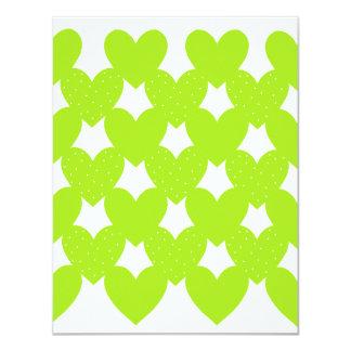 Green Linked Hearts Card