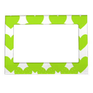 Green Linked Hearts Magnetic Frame