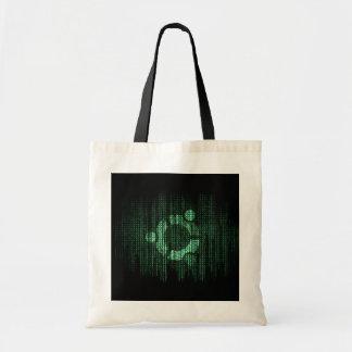 Green Linux Terminal Canvas Bags