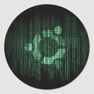 Green Linux Terminal Round Stickers